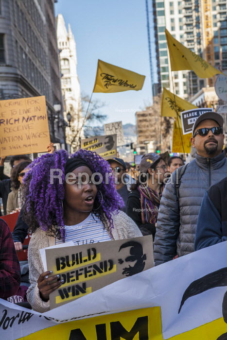 Oakland, California, USA, Reclaiming the Dream, Martin Luther King Jr Day celebration - David Bacon - 2019-01-21
