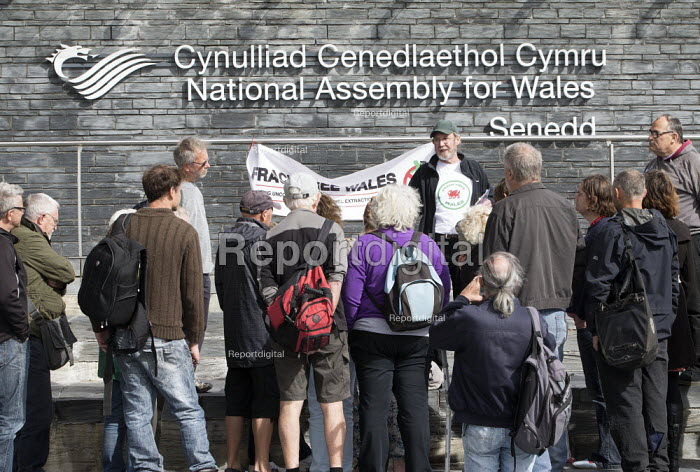 Protest against Fracking, National assembly for Wales... - Paul Box, PB1811442.JPG