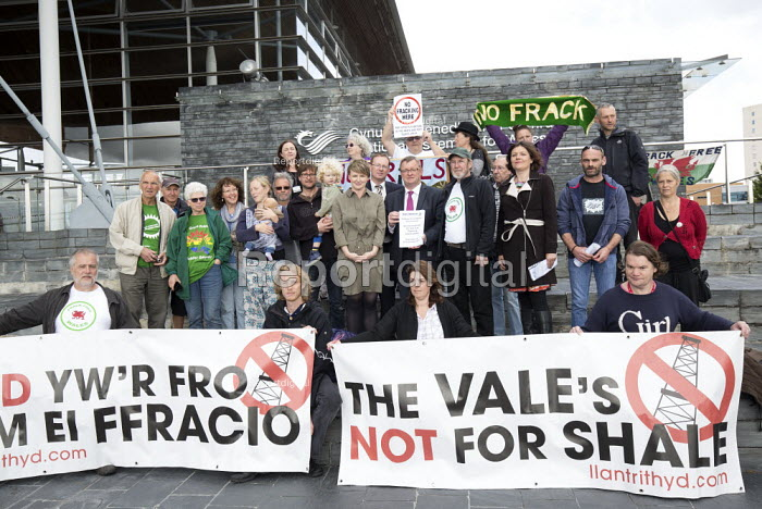 Protest against Fracking, National assembly for Wales... - Paul Box, PB1811443.JPG