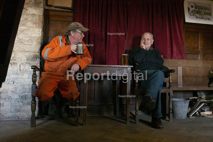 Drinkers, The Square and Compass, Worth Matravers, The Isle of Purbeck, Dorset - John Harris - 2019-02-14