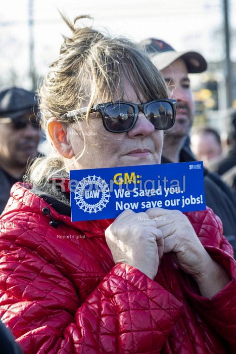 Warren, Michigan, USA: UAW union prayer vigil to protest the planned closure of General Motors Warren Transmission plant - Jim West - 2019-02-22