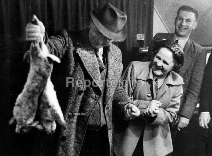 Man with rabbits at Ladies Night, Working Mens Club Selby... - Phil Preston, RAPP5411.jpg
