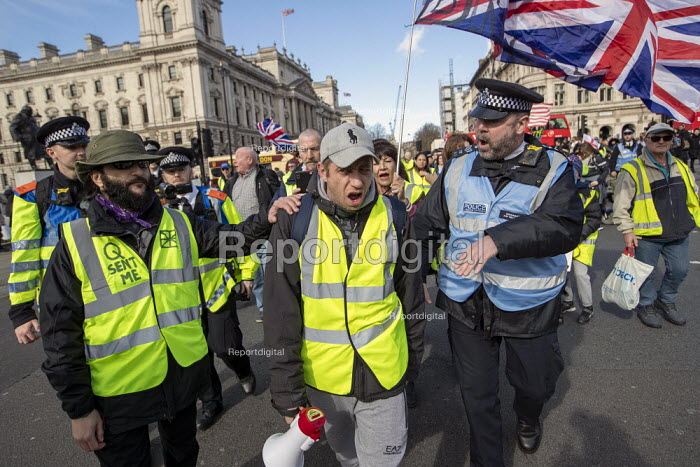 UK UNITY ORG Yellow Vest pro Brexit protest, Westminster, London - Jess Hurd - 2019-03-09