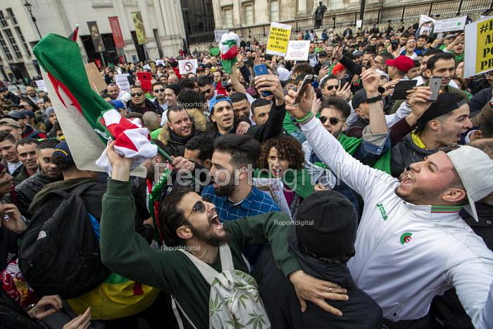 Algerians protest for regime change in Algeria, Westminster, London - Jess Hurd - 2019-03-09