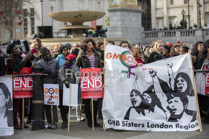 Million Women Rise demanding an end to male violence in all its forms against women and girls, Westminster, London. - Jess Hurd - 2019-03-09