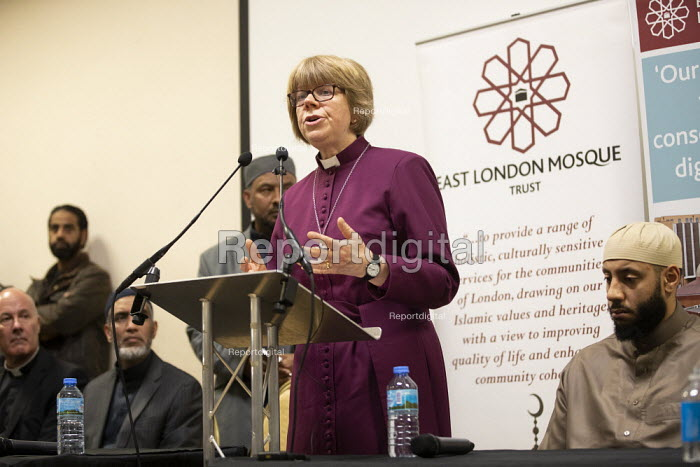 Faith leaders and politicians condemning Islamophobia after the New Zealand Mosque terrorist attacks, East London Mosque, Tower Hamlets, East London. - Jess Hurd - 2019-03-15