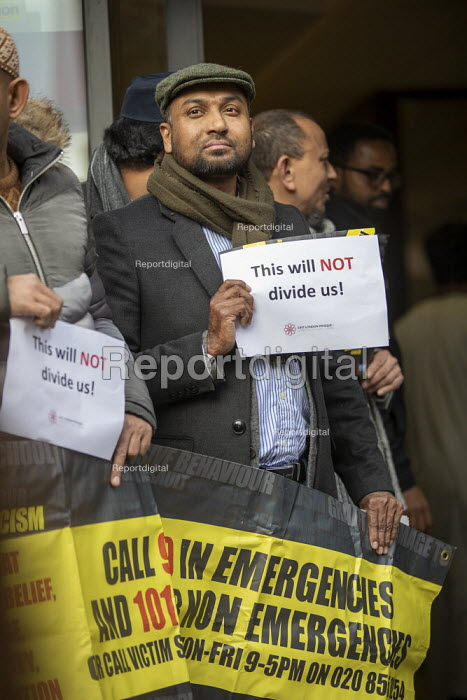 Vigil at the East London Mosque after the New Zealand Mosque terrorist attacks, East London Mosque, Tower Hamlets, East London. - Jess Hurd - 2019-03-15