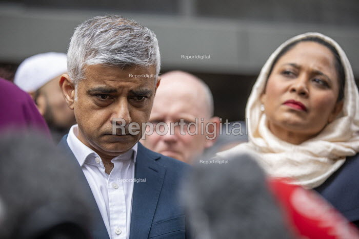 London Mayor Sadiq Khan, faith leaders and politicians condemning Islamophobia after the New Zealand Mosque terrorist attacks, East London Mosque, Tower Hamlets, East London. - Jess Hurd - 2019-03-15