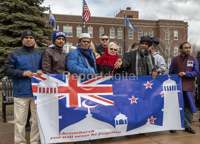 Michigan USA: Vigil for the victims of the New Zealand mosque shootings in Christchurch and against Islamophobia - Jim West - 2019-03-22