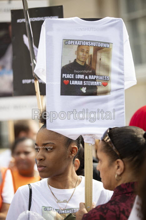 Operation Shutdown, Stop The Violence, end knife crime protest, Westminster Bridge, London - Jess Hurd - 2019-04-17