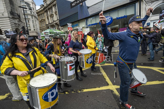 PCS Samba Band, National Demonstration for Palestine, London - Jess Hurd - 2019-05-11