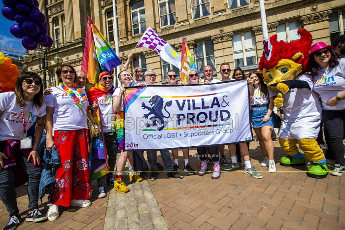 Birmingham Gay Pride, Villa and Proud LGBT football Supporters Group, Victoria Square - Jess Hurd - 2019-05-25