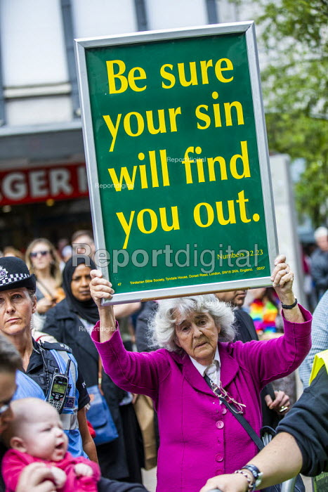 Anti gay Christian, Birmingham Gay Pride - Jess Hurd - 2019-05-25