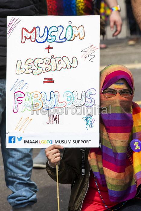 Supporting gay Muslims, Birmingham Gay Pride. Muslim and Lesbian equals fabulous - Jess Hurd - 2019-05-25