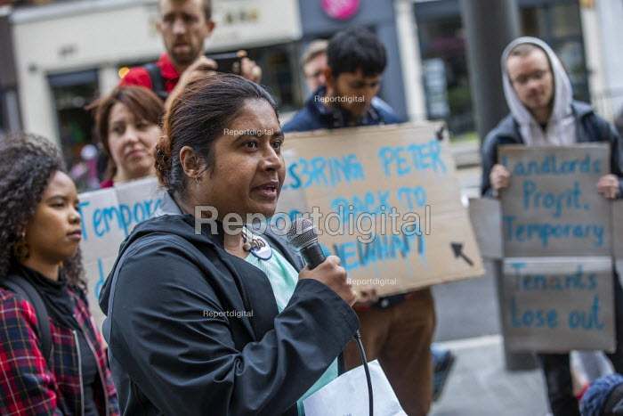 London Renters Union protest outside Newham Council calling for justice for renters living in temporary accommodation, Stratford, London - Jess Hurd - 2019-05-29