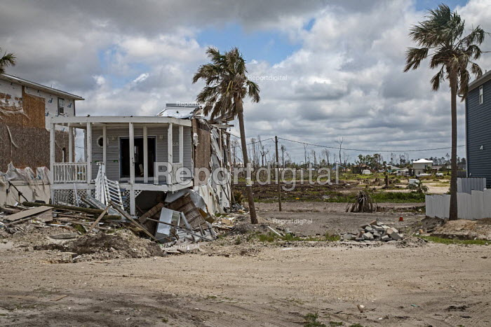 Mexico Beach, Florida, USA: destruction from Hurricane Michael 7 months after the storm hit the Florida Panhandle - Jim West - 2019-05-09
