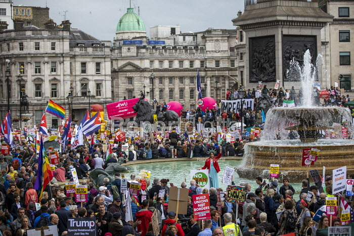 Together Against Trump, stop the state visit protest against Donald Trump, Trafalgar Square, London - Jess Hurd - 2019-06-04