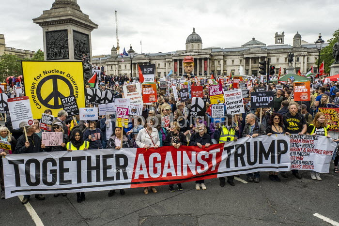 Frances O'Grady TUC, Together Against Trump, stop the state visit protest against Donald Trump, London - Jess Hurd - 2019-06-04