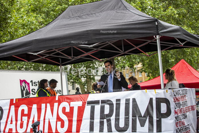 Richard Burgon MP speaking Together Against Trump, stop the state visit protest against Donald Trump, London - Jess Hurd - 2019-06-04