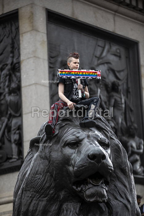 Young, gay and angry, Together Against Trump, stop the state visit protest against Donald Trump, London - Jess Hurd - 2019-06-04