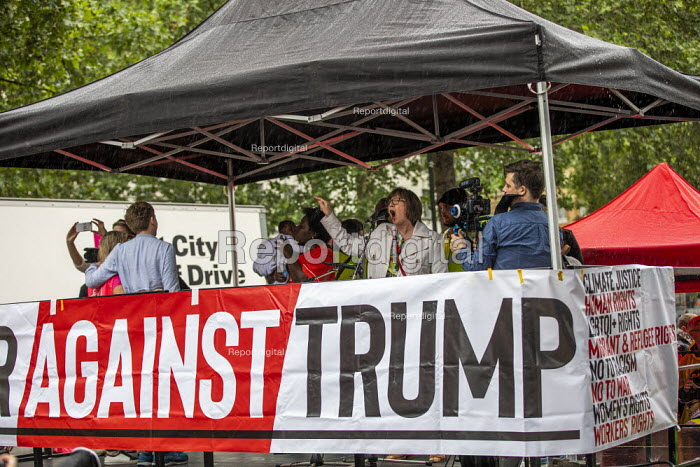 Frances O'Grady TUC speaking Together Against Trump, stop the state visit protest against Donald Trump, London - Jess Hurd - 2019-06-04