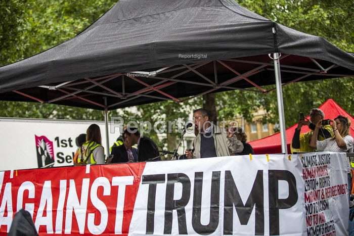 Mark Serwotka PCS speaking Together Against Trump, stop the state visit protest against Donald Trump, London - Jess Hurd - 2019-06-04