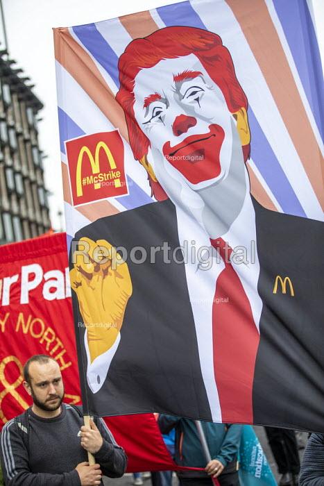 McStrike banner, Together Against Trump, stop the state visit protest against Donald Trump, London - Jess Hurd - 2019-06-04