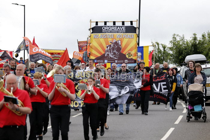 Unite Brass Band, Orgreave 35th Anniversary Rally, Orgreave, Sheffield, South Yorkshire - John Harris - 2019-06-15