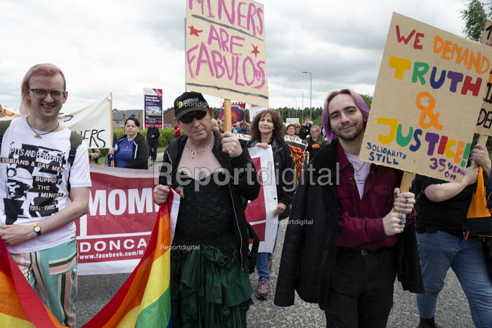 LGBT supporters, Orgreave 35th Anniversary Rally, Orgreave, Sheffield, South Yorkshire - John Harris - 2019-06-15