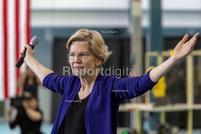 Detroit, Michigan, USA, Senator Elizabeth Warren campaigning for the 2020 Democratic presidential nomination - Jim West - 2019-06-04
