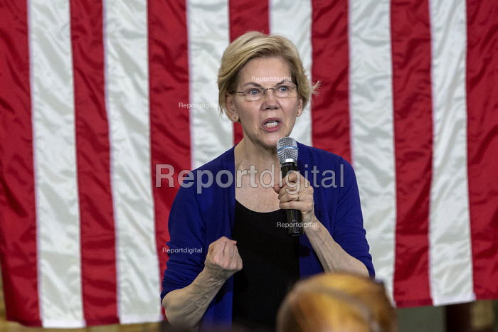 Detroit, Michigan, USA, Senator Elizabeth Warren campaigning for the 2020 Democratic presidential nomination - Jim West - 2019-06-04