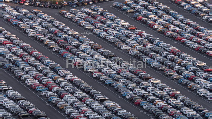 Royal Portbury Dock, Avonmouth, automotive import and export of Mitsubishi and Toyota vehicles - Paul Box - 2019-02-14