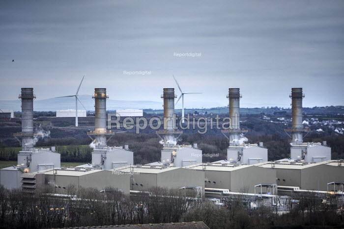 Pembroke Gas power station, a combined cycle gas turbine (CCGT) plant, Pembrokeshire - Paul Box - 2017-05-03