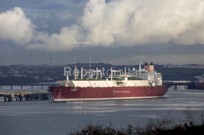Gas Tanker, South Hook LNG, Milford Haven, Pembrokeshire - Paul Box - 2017-05-03