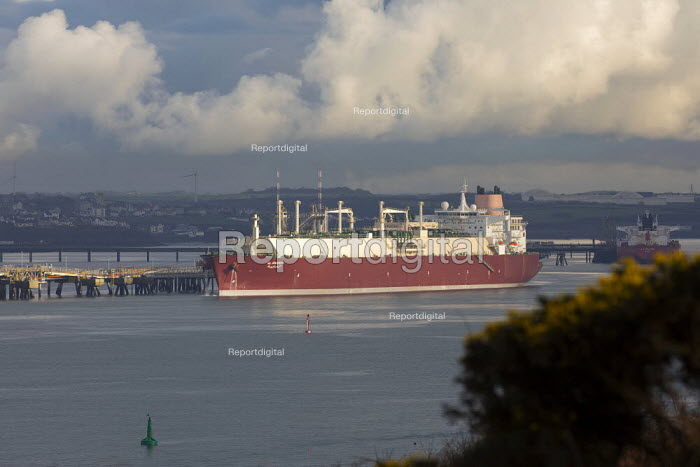 Gas Tanker, South Hook LNG, Milford Haven, Pembrokeshire - Paul Box - 2017-05-03