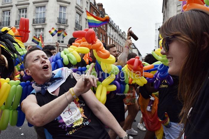 Pride in London 2019, parade through London. 56 Dean StreetPride in London 2019, parade through London. 56 Dean StreetPride in London 2019, parade through London. 56 Dean StreetPride in London 2019, parade through London. 56 Dean Street - Stefano Cagnoni - 2019-07-06