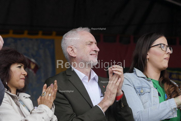Jeremy Corbyn, Laura Pidcock MP 2019 Durham Miners Gala - Mark Pinder - 2019-07-13