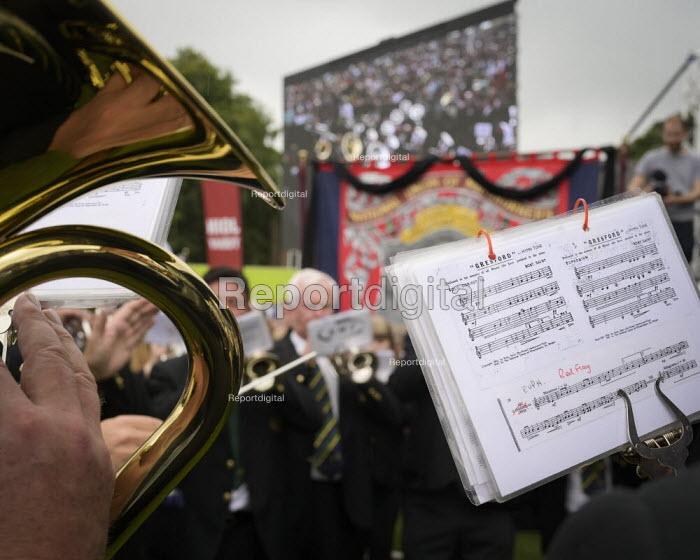 2019 Durham Miners Gala, Brass band playing - Mark Pinder - 2019-07-13