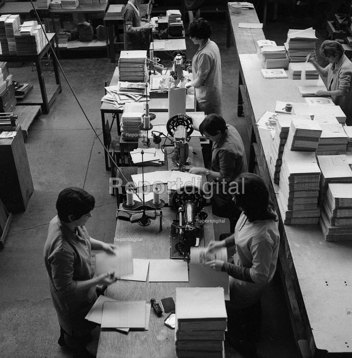 Bookbinding in Edinburgh 1971. The city has a tradition of bookbinding and printing going back more than 500 years - Chris Davies - 1971-05-03
