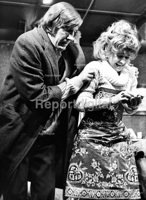 The Ruffian On The Stair by Joe Orton at the Soho Poly London 1973. David Warner as Mike and Prunella Scales as Joyce - Peter Harrap - 1973-12-06