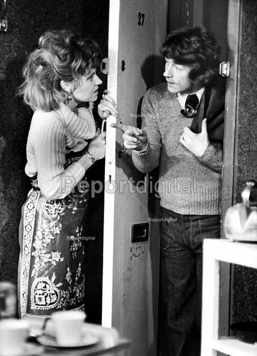 The Ruffian On The Stair by Joe Orton, the Soho Poly London 1973. Prunella Scales as Joyce and John Hurt as Wilson - Peter Harrap - 1973-12-05