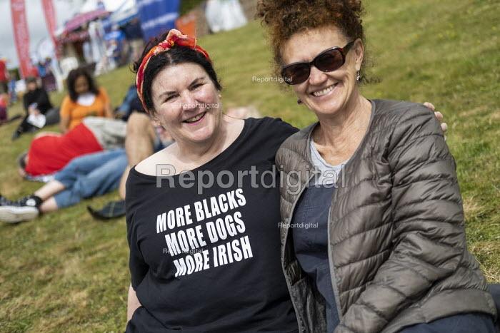 More Blacks, More Dogs, More Irish t-shirt, Tolpuddle Martyrs Festival, Dorset. - Jess Hurd - 2019-07-21