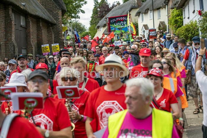 Jeremy Corbyn leads Tolpuddle Martyrs Festival procession, Dorset. - Jess Hurd - 2019-07-21