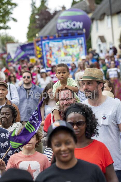 UNISON members, Tolpuddle Martyrs Festival, Dorset. - Jess Hurd - 2019-07-21
