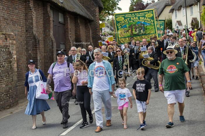 RMT members, Tolpuddle Martyrs Festival, Dorset. - Jess Hurd - 2019-07-21