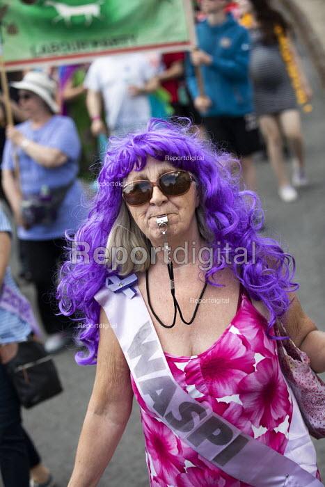 WASPI woman, Tolpuddle Martyrs Festival, Dorset. - Jess Hurd - 2019-07-21