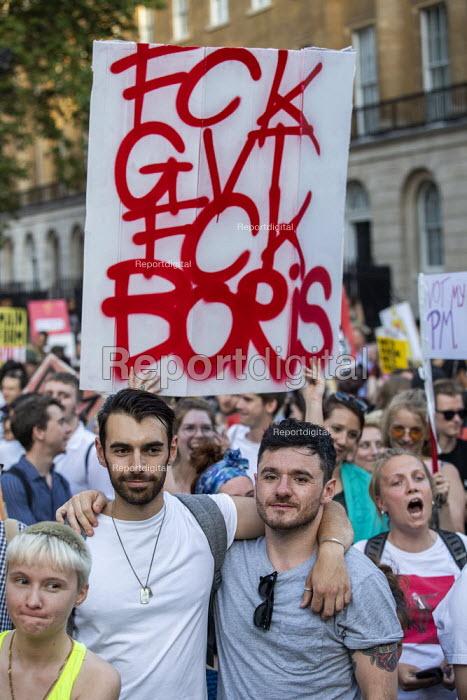 Fck Boris protest against Prime Minister Boris Johnson, Westminster, London - Jess Hurd - 2019-07-24