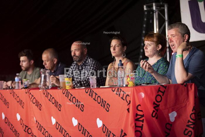 Mark Serwotka PCS speaking Tolpuddle Martyrs Festival, Dorset. - Jess Hurd - 2019-07-21