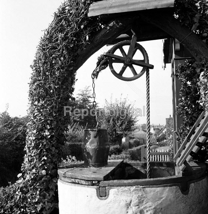 Well infront of cottage Coddenham Suffolk 1955 - Kurt Hutton - 1955-09-27