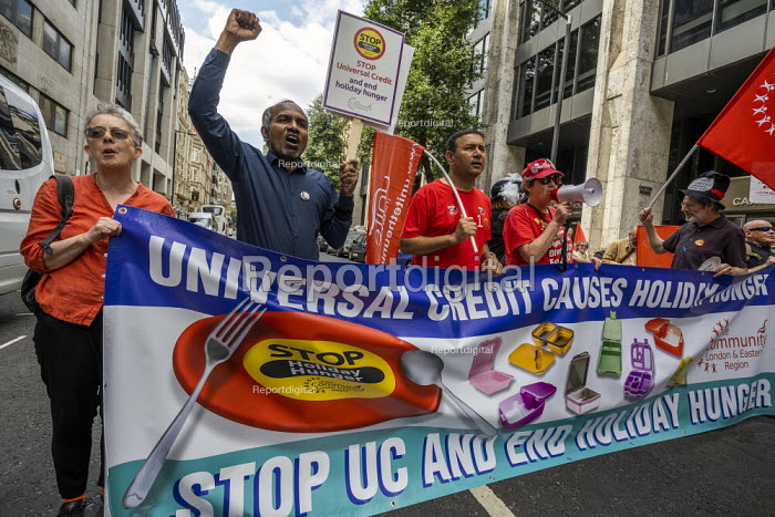 Protest against Universal Credit and holiday hunger, Unite Community National Day of Action against Poverty, DWP, Caxton House, London - Jess Hurd - 2019-08-01